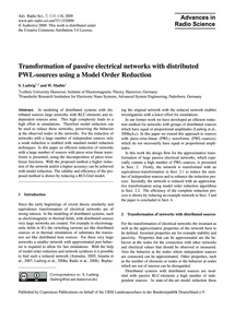 Transformation of Passive Electrical Net... by Ludwig, S.