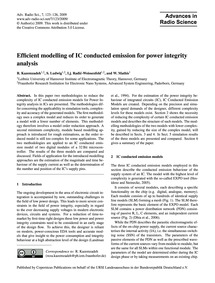 Efficient Modelling of Ic Conducted Emis... by Kazemzadeh, R.