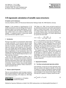 3-d Eigenmode Calculation of Metallic Na... by Bandlow, B.