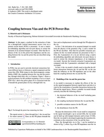 Coupling Between Vias and the Pcb Power-... by Heinrich, G.