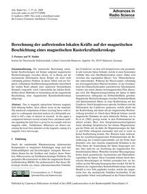 Berechnung Der Auftretenden Lokalen Kräf... by Preisner, T.