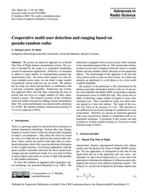 Cooperative Multi-user Detection and Ran... by Morhart, C.