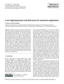 A New High-integrated Weak Field Sensor ... by Thiessen, T.