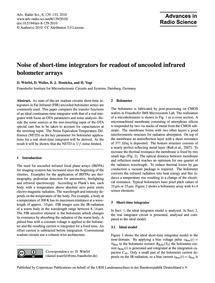Noise of Short-time Integrators for Read... by Würfel, D.