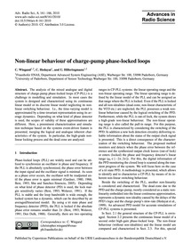 Non-linear Behaviour of Charge-pump Phas... by Wiegand, C.