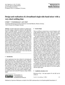 Design and Realization of a Broadband Si... by Haßler, S.