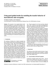 Using Quasi-guided Modes for Modeling th... by Stallein, M.