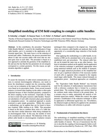 Simplified Modeling of Em Field Coupling... by Schetelig, B.