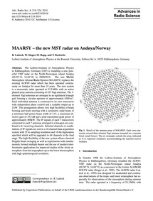 Maarsy – the New Mst Radar on Andøya/Nor... by Latteck, R.