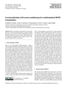 Local Positioning with Sensor-enabled Pa... by Heidrich, J.