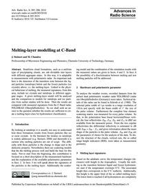 Melting-layer Modelling at C-band : Volu... by Steinert, J.