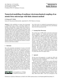 Numerical Modelling of Nonlinear Electro... by Freitag, J.