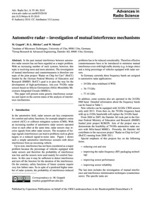 Automotive Radar – Investigation of Mutu... by Goppelt, M.