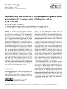 Implementation and Evaluation of Coheren... by Vogt, M.