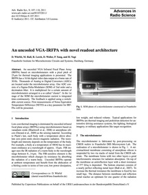 An Uncooled Vga-irfpa with Novel Readout... by Würfel, D.