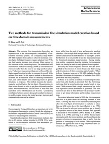Two Methods for Transmission Line Simula... by Rinas, D.