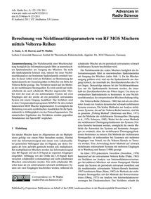 Berechnung Von Nichtlinearitätsparameter... by Susic, A.