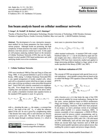 Ion Beam Analysis Based on Cellular Nonl... by Senger, V.