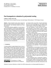 Fast Beampattern Evaluation by Polynomia... by Häcker, P.