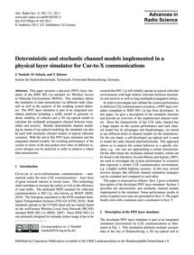 Deterministic and Stochastic Channel Mod... by Nuckelt, J.