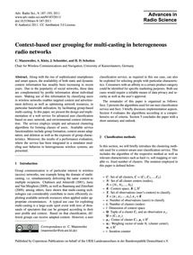Context-based User Grouping for Multi-ca... by Mannweiler, C.
