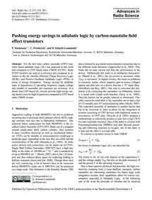 Pushing Energy Savings in Adiabatic Logi... by Teichmann, P.