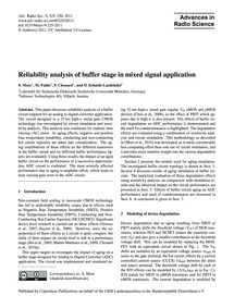 Reliability Analysis of Buffer Stage in ... by More, S.