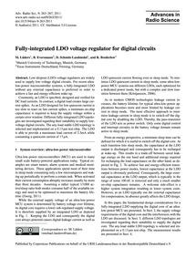 Fully-integrated Ldo Voltage Regulator f... by Lüders, M.