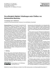 Zuverlässigkeit Digitaler Schaltungen Un... by Kleeberger, V. B.