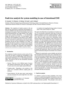 Fault Tree Analysis for System Modeling ... by Genender, E.