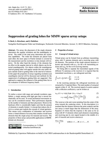 Suppression of Grating Lobes for Mmw Spa... by Bertl, S.
