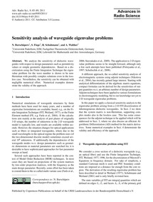 Sensitivity Analysis of Waveguide Eigenv... by Burschäpers, N.