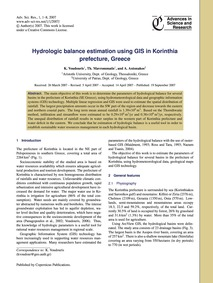 Hydrologic Balance Estimation Using Gis ... by Voudouris, K.
