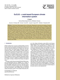 Euclis – a Web Based European Climate In... by Bissolli, P.