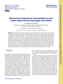 Measurement Procedures for Characterizat... by Iungo, G. V.
