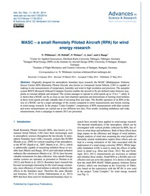 Masc – a Small Remotely Piloted Aircraft... by Wildmann, N.