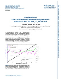 Corrigendum to Lidar Uncertainty and Bea... by Giyanani, A.