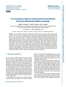 Uv and Global Irradiance Measurements an... by Bilbao, J.