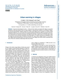 Urban Warming in Villages : Volume 12, I... by Lindén, J.