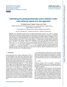 Estimating the Photosynthetically Active... by Wandji Nyamsi, W.