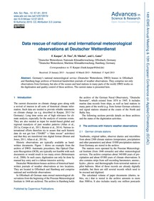 Data Rescue of National and Internationa... by Kaspar, F.