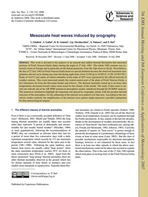 Mesoscale Heat Waves Induced by Orograph... by Gladich, I.