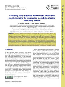 Sensitivity Study of Surface Wind Flow o... by Marrero, C.