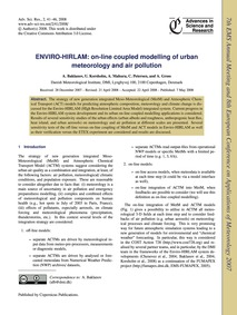 Enviro-hirlam: On-line Coupled Modelling... by Baklanov, A.
