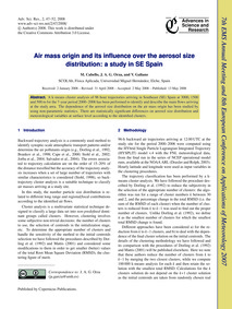 Air Mass Origin and Its Influence Over t... by Cabello, M.