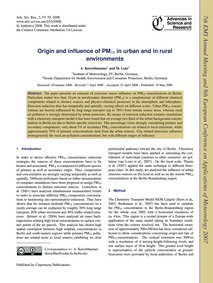 Origin and Influence of Pm10 in Urban an... by Kerschbaumer, A.
