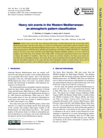 Heavy Rain Events in the Western Mediter... by Martínez, C.