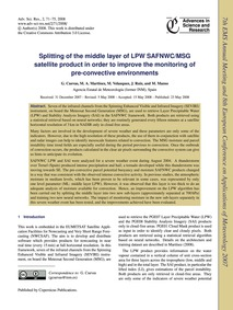 Splitting of the Middle Layer of Lpw Saf... by Cuevas, G.