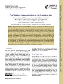 Fire Weather Index Application in North-... by Cane, D.