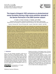 The Impact of Biogenic Voc Emissions on ... by Castell, N.